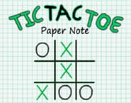 Tic Tac Toe Paper Note