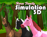 Horse Family Animal Simulation 3D
